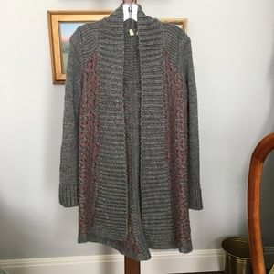 Anthro Moth Open Front Long Cardigan size S